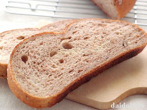 大豆粉入りライ麦くるみパン