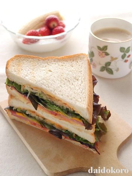 ピザ風トーストのサンドイッチ