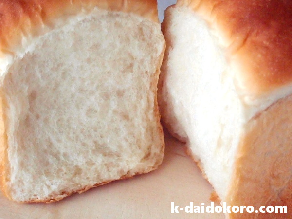 ココナッツオイルの山型食パン