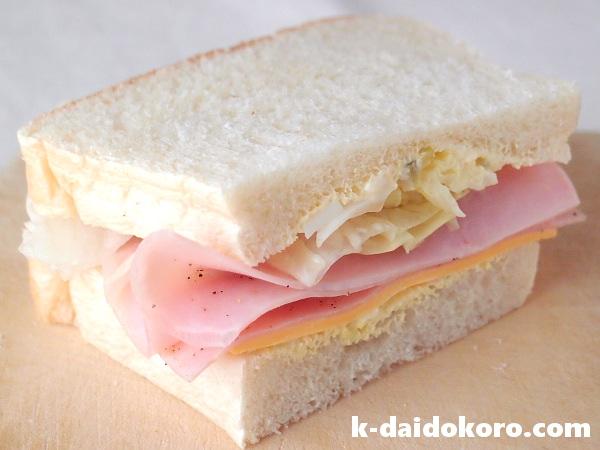 こんにゃくパンを使ったサンドイッチ