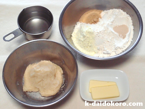 湯種製法 食パンの材料