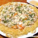 鶏肉と豆腐のあんかけ焼きそば イミダペプチドで疲労回復 | 絹豆腐・もめん豆腐の料理レシピ
