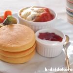 大豆粉と米粉のパンケーキで小麦グルテンフリーの朝食 | みたけ食品工業