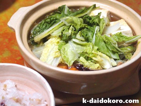 ツナ缶を使った野菜たっぷりの鍋