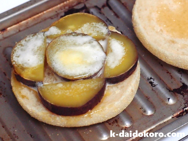 焼き芋のサンドイッチの作り方