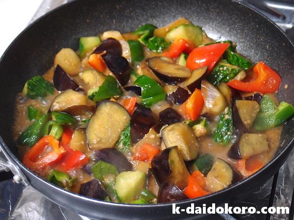 夏野菜たっぷりの味噌炒めの作り方