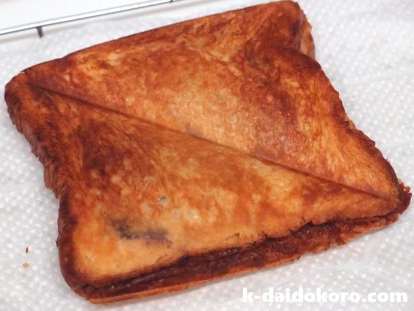 デニッシュ食パンのホットサンド