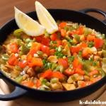 鶏肉のパエリア~ツヤツヤの炊き上がり、おこげも美味い! | 南部鉄器 ニューラウンド万能鍋