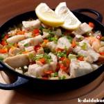 メカジキのパエリア~魚介の美味しいダシがたっぷりです! | 南部鉄器 ニューラウンド万能鍋