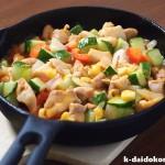 鶏肉と胡瓜のマヨネーズ炒め | 南部鉄器 ミニフライパン
