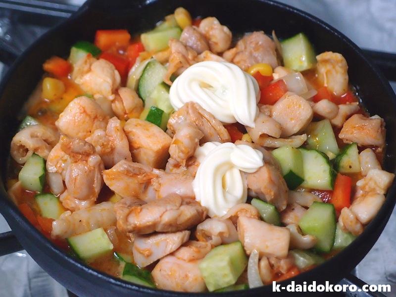 鶏肉と胡瓜のマヨネーズ炒めの作り方