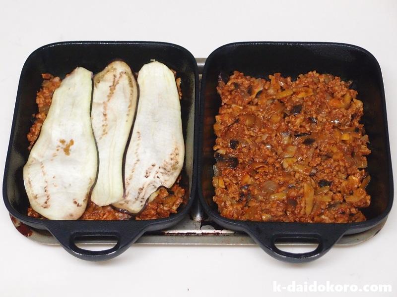 山芋とひき肉の重ね焼きの作り方