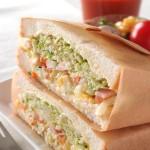 ボリュームのあるサンドイッチの包み方 ~ これでこぼさずに食べられる♪