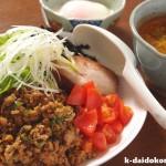 ごま担々茶漬け ~ 鍋スープの素を使って | モランボン PREMIUM ごま担々鍋