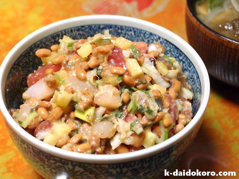 海鮮納豆丼