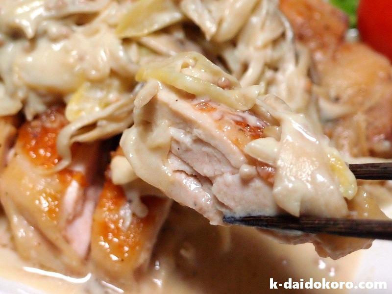 鶏もも肉のソテー 豆乳マスタードソース