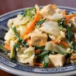 高野豆腐と春キャベツの豆乳卵炒め | カラダよろこぶ♪豆乳レシピ