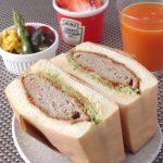 満腹!メンチカツのサンドイッチ