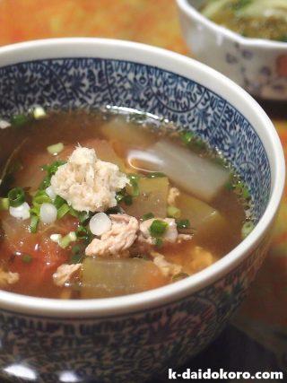 スイカの皮のスープ