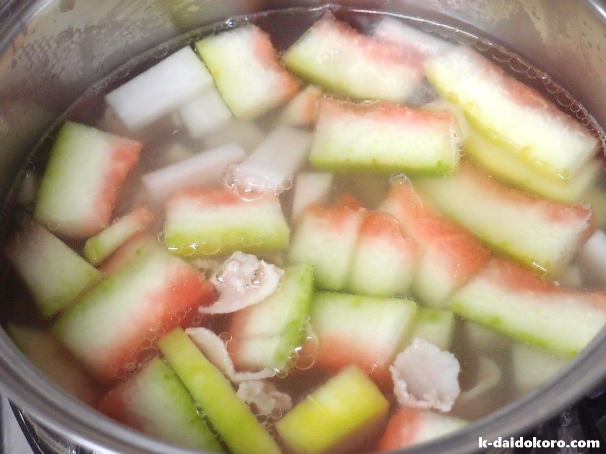 スイカの皮のスープの作り方