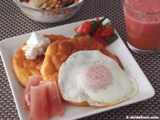 クラウドブレッドの朝食