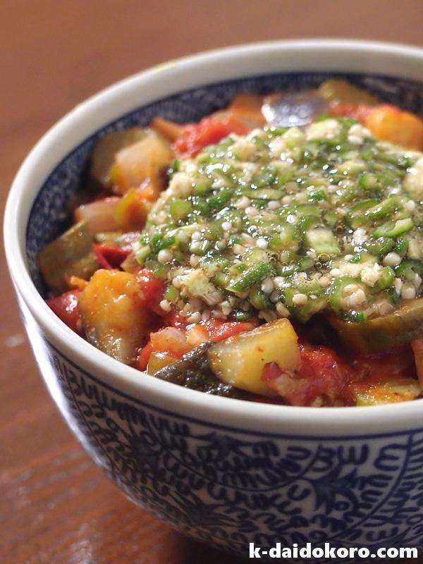たっぷり野菜の「夏丼」