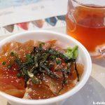 獲れたて「カジキのづけ丼」でお腹もいっぱい ~ 座間味村漁協直売店