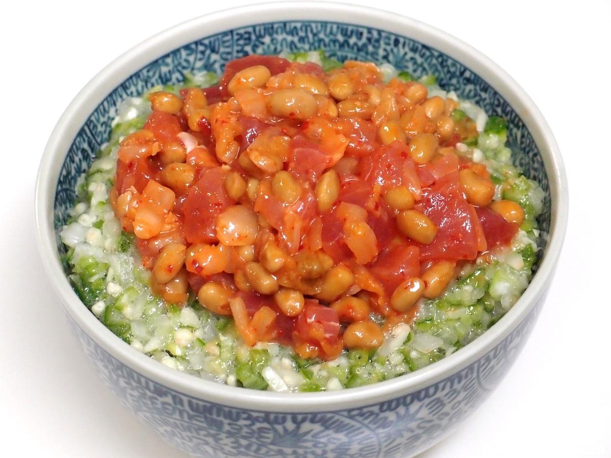 まぐろキムチ納豆