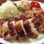 鶏もも肉のソテー 豆乳アボカドソース ~ 北の大豆 無調整豆乳