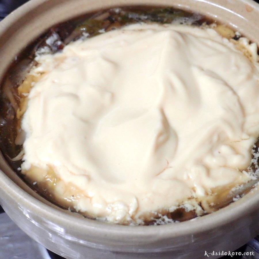 ふわふわ豆腐のきのこ鍋の作り方