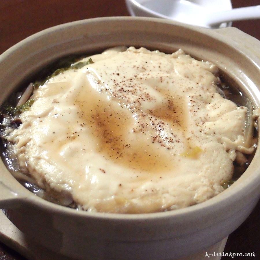ふわふわ豆腐のきのこ鍋