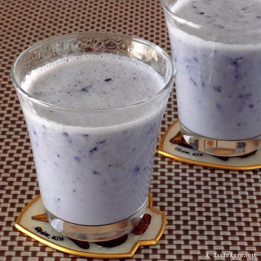 甘酒豆乳 ブルーベリー