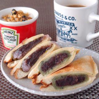 道明寺桜餅と草団子のホットサンド