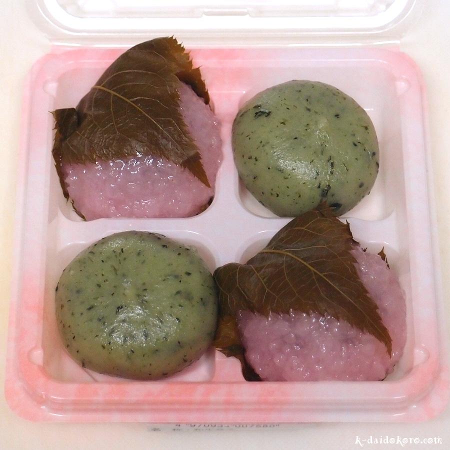 道明寺桜餅と草団子