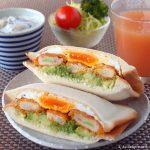 エビカツのホットサンド ~ 冷凍食品を使って時短調理