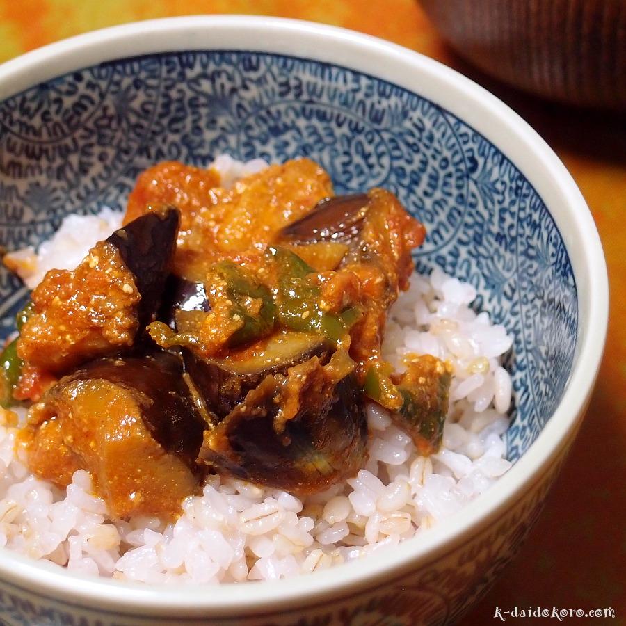ナスと豚バラ肉の味噌炒め