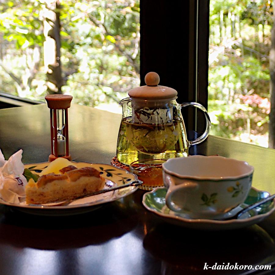 花仙庵 Tea Room 櫓 イチジクのタルトとハーブティー