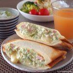 アボカド、ベーコンのチーズ和えのホットサンド