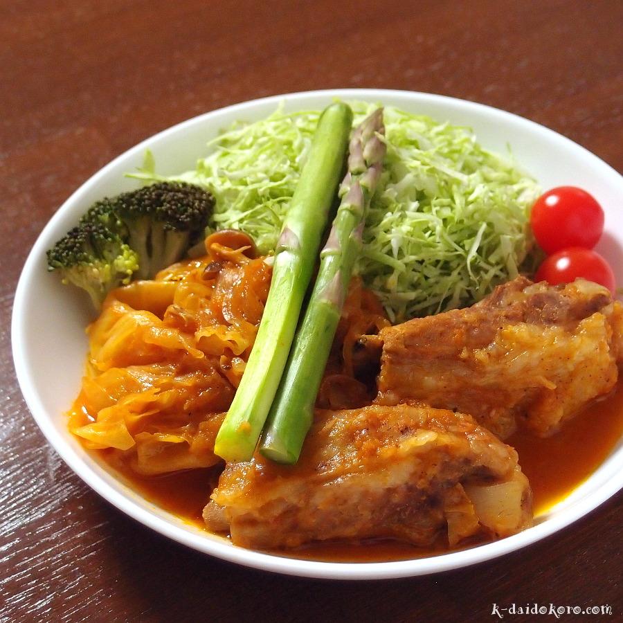 スペアリブの野菜ジュース煮込み