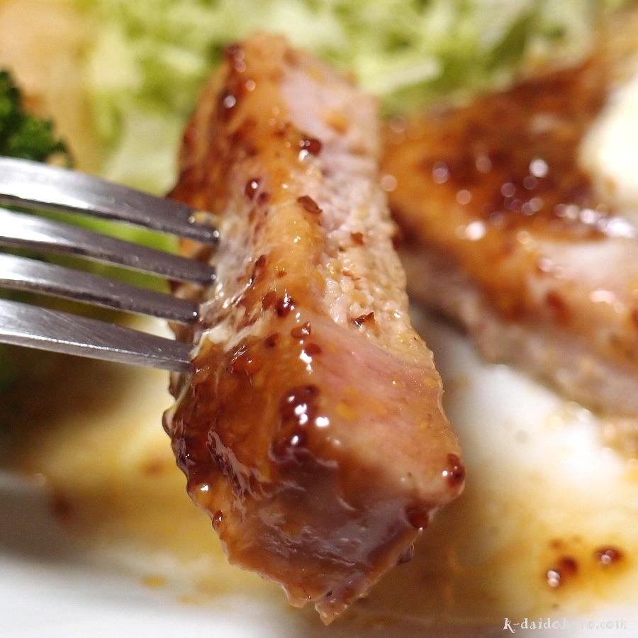 豚肉のソテー ハニーマスタードソース