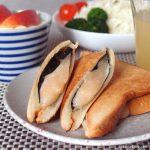 明太バター餅のホットサンド