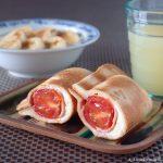 トマトと生ハムとクリームチーズのホットサンド